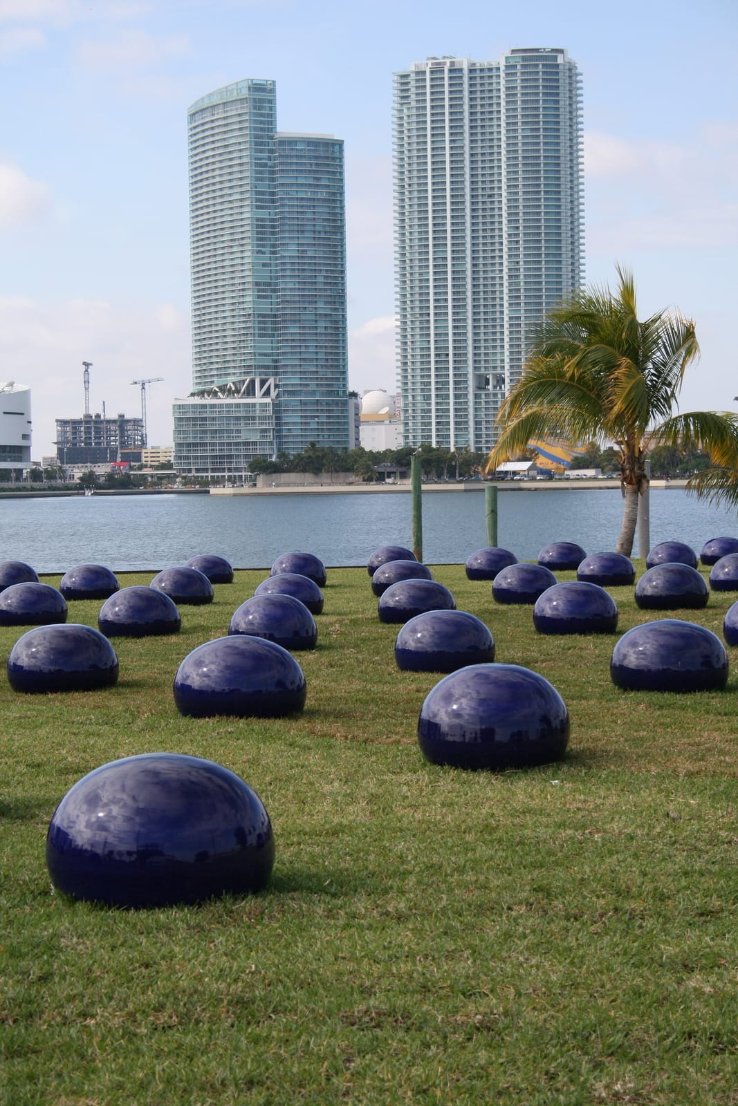 An outdoor installation from Art Basel, Miami – looking across the bay.